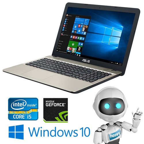 "ASUS R541UA-XO195T, i5-6198DU, 15,6"" HD, 4GB, 1TB, Win 10 Chocolate Black carry bag"