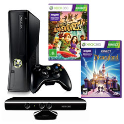 XBOX 360 4GB KINECT + hry: Disneyland, Adventures