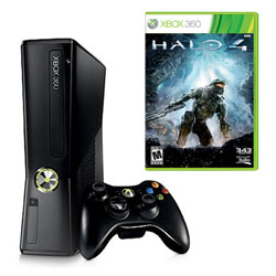 XBOX 360 250GB SLIM + hra:  Halo 4