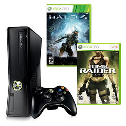 Xbox 360 250GB + Halo 4 + Tomb Raider (Token)