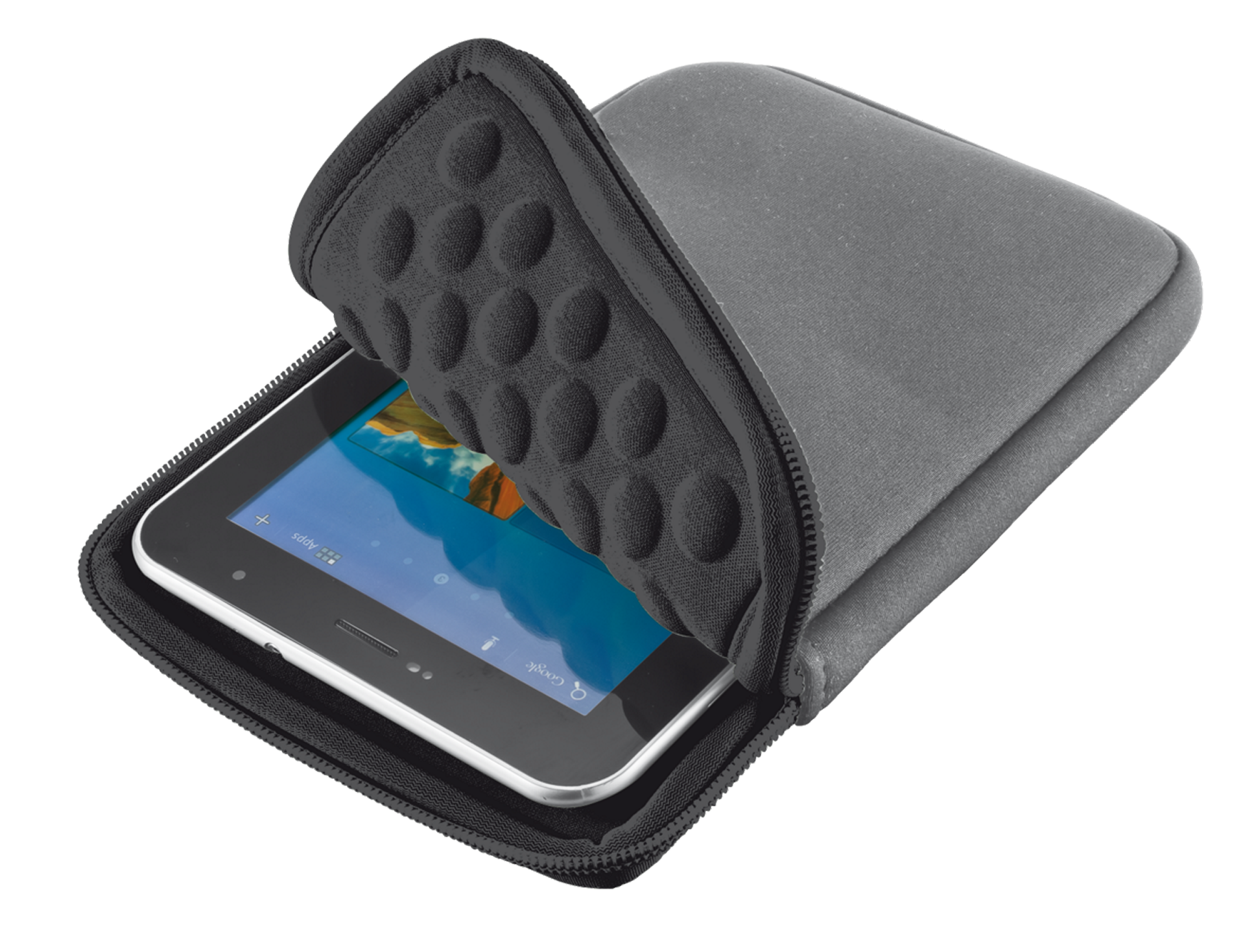 "TRUST Bubble sleeve for 7"" tablets - gray"