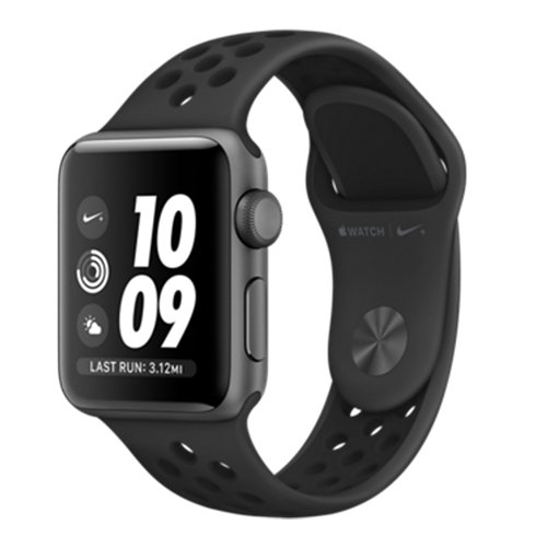 Apple Watch Nike+ GPS, 38mm Space Grey Aluminium Case with Anthracite/Black Nike Sport Band mqky2cn/a