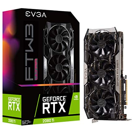EVGA GeForce RTX 2080 Ti FTW3 ULTRA GAMING / 11GB GDDR6 / PCI-E / 3x DP / HDMI / USB Type-C 11G-P4-2487-KR