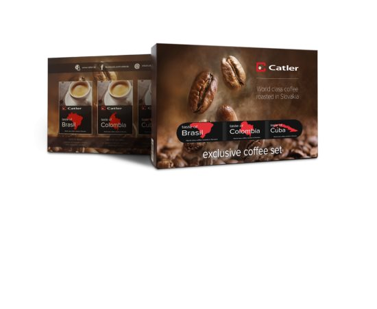 EXCLUSIVE COFFEE SET 3x125 g CATLER 8588004985841