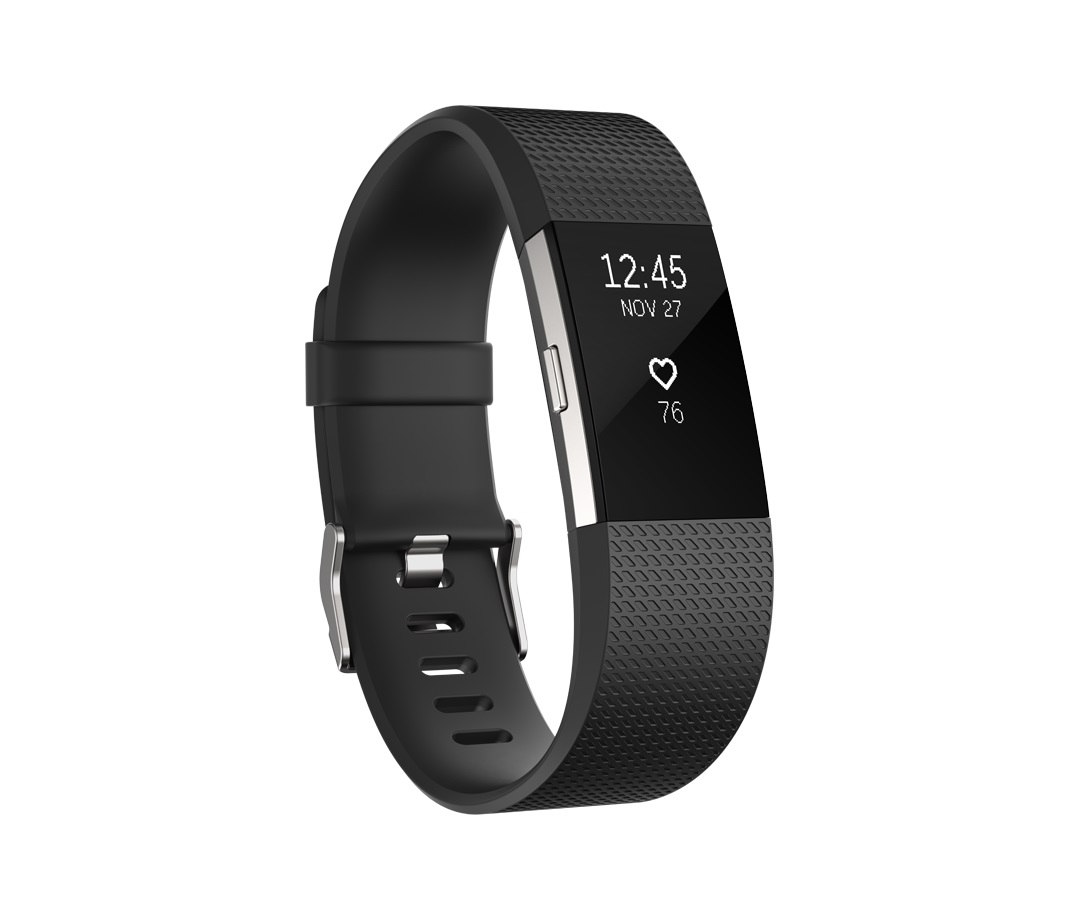 Fitbit Charge 2 Black Silver - Large FB407SBKL-EU