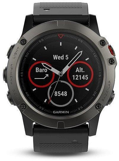 959a5b9ae GARMIN GPS chytré hodinky fenix5X Sapphire Gray Optic, Black band  010-01733-01