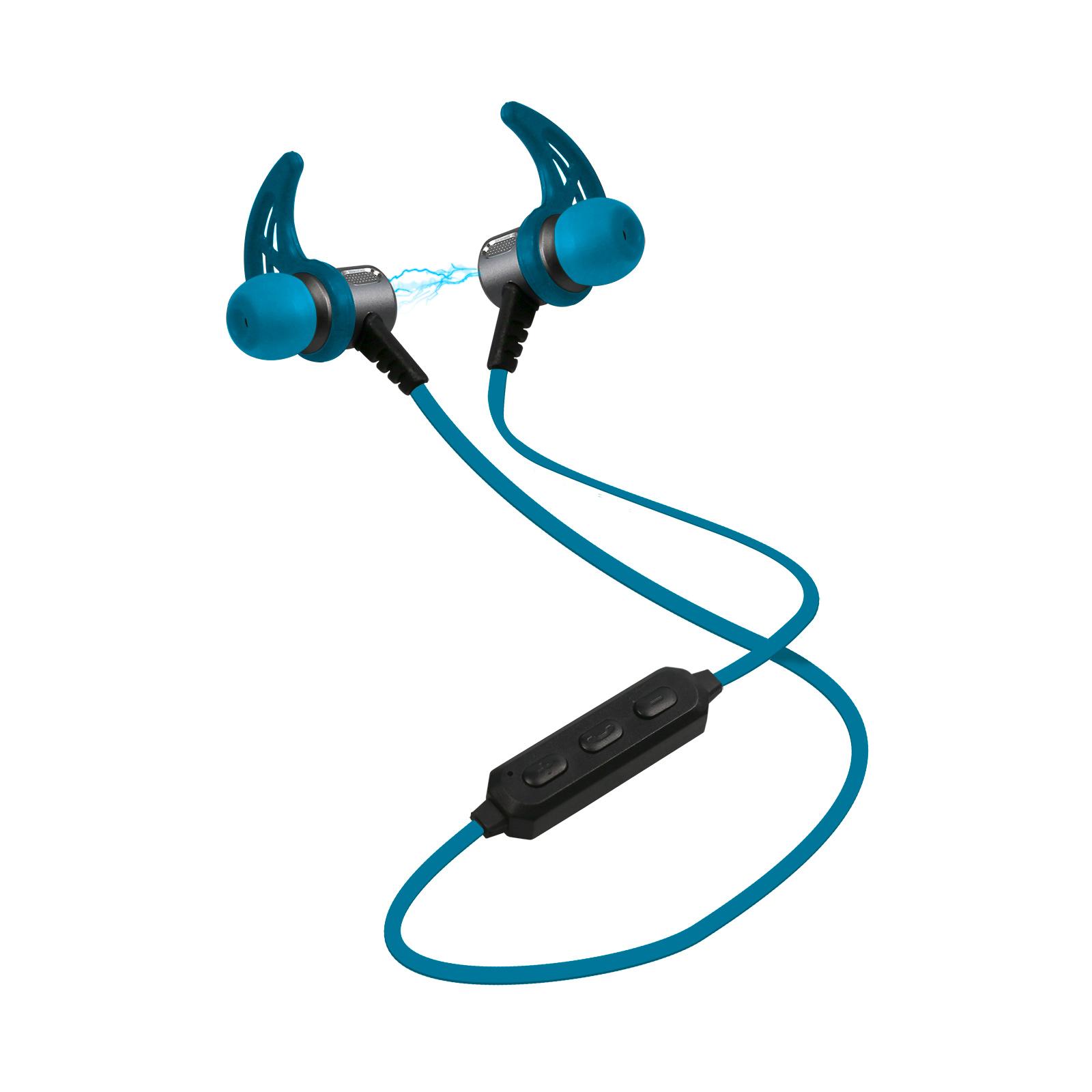 ed9b5e4a8 SBS - Športové bluetooth slúchadlá s magnetickým pripínaním v4.2, modrá