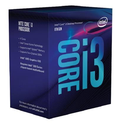 Intel Core i3-8100, Quad Core, 3.60GHz, 6MB, LGA1151, 14nm, BOX