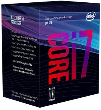 Intel® Core™i7-8700 processor, 3,20GHz,12MB,LGA1151 BOX, HD Graphics 630 BX80684I78700SR3QS