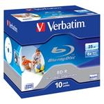 VERBATIM BD-R SL(10-Pack)Jewel/Printable/6x/25GB - predavane po 1ks 43713ks
