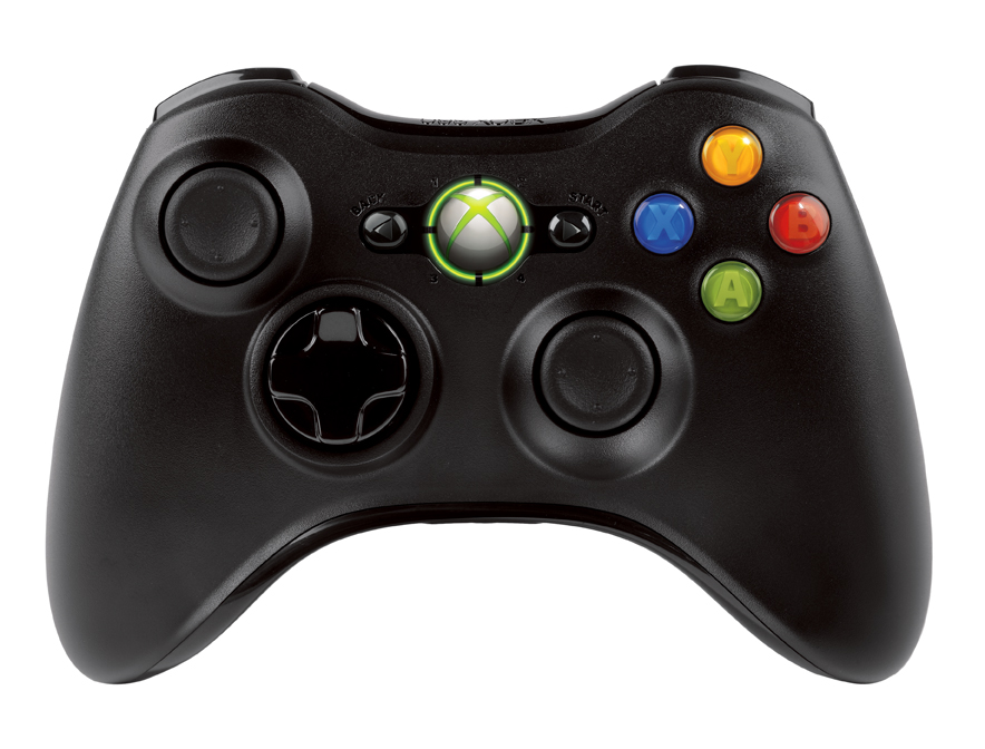 XBOX 360 Wireless Controller Black - akce NSF-00002